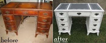 Repurposed Furniture Before And After by Kammy U0027s Korner Shabby Chic Desk With Chalkboard Inserts Before