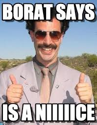 Borat Meme - congrats leaders borat says on memegen