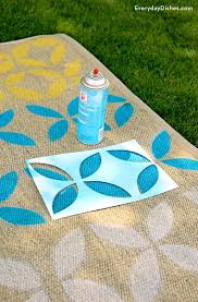 How To Make An Outdoor Rug How To Make A Diy Stenciled Outdoor Rug Recipe Outdoor Rugs