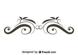 retro floral swirl stylish design free vectors ui