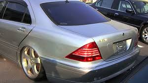 mercedes w220 s500l carlsson body kit wheels exhaust system