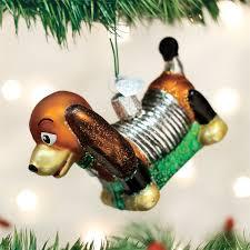 Dog Christmas Ornaments Toy Coil Dog Ornament Retro Christmas Tree Ornaments Glass