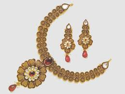 antique necklace set images Antique necklace set design 2 khandelwal jewellers jpg