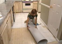 Can You Put Laminate Flooring In A Kitchen How To Install Self Stick Floor Tiles How Tos Diy
