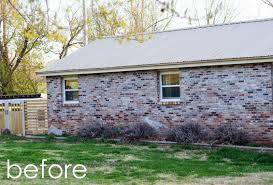 Best Colors For Painting Outdoor Brick Walls by Natalie Creates Exterior House Renovation Progress Painted Brick