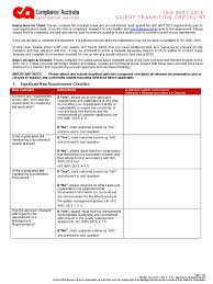iso 9001 2015 transition checklist c 01 rev a iso 9000 quality