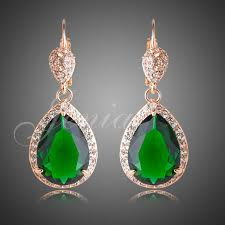 Chandelier Earrings Earrings Jenia Gorgeous Teardrop Chandelier Earrings Cut Green Cubic