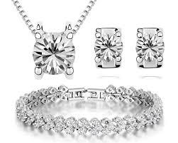 bracelet necklace earrings set images Elegant diamond bracelet and earring set jewellry 39 s website jpg