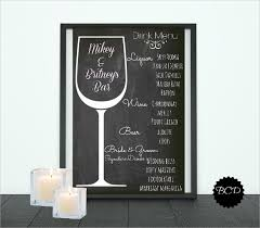 wedding bar menu template 28 drink menu templates free sle exle format