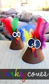 Pinterest Crafts For Kids To Make - turkey cone craft thanksgiving and fall crafts for kids