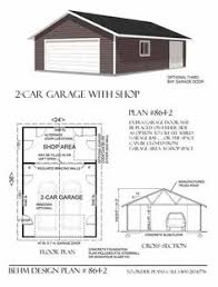 Workshop Garage Plans Extra Large Two Car Garage Has Enough Room For A Work Shop And