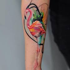 tattoo artist captures the carefree fluidity of watercolor paint
