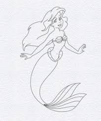 how to draw ariel from the little mermaid step by step drawing
