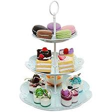 3 tiered cake stand pastel turquoise ceramic 3 tier dessert stand server