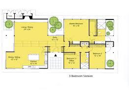 3 floor plans modern style house plan 3 beds 2 00 baths 2360 sq ft plan 544 3