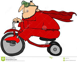 tricycle cartoon superhero on a tricycle stock illustration image of trike 14421127