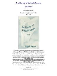 quotes about karma not existing rudolf steiner the karma of untruthfulness vol 1 rudolf steiner