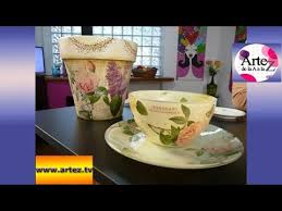 tutorial de decoupage en cristal técnica de doble decoupage en vidrio youtube