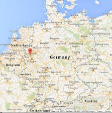 map germany dusseldorf on map of germany world easy guides