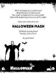 halloween poster printable template wedding invitation