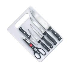 prestige kitchen knives prestige stainless steel kinfe board 7 pc set rs 450 id