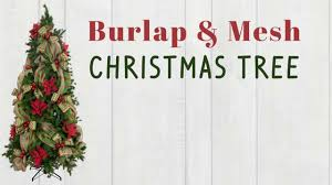 burlap and mesh christmas tree on vimeo
