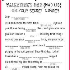 valentines mad lib printable valentines printable templates