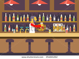 bar restaurant cafe with barkeeper character symbol alcohol house