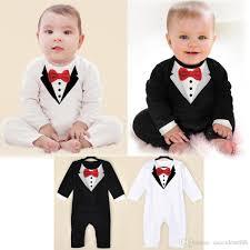 aliexpress buy 2016 new european men 39 s jewelry newborn boy baby formal suit tuxedo romper jumpsuit gentleman