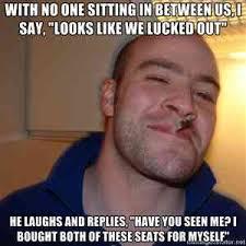 Obese Meme - good guy obese airplane passenger meme guy