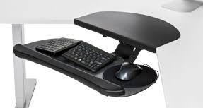 Desk Corner Sleeve Shop Keyboard Tray Kits For Corner L Shaped Desks Uplift Desk