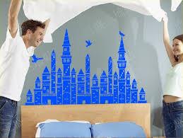 Vinyl Headboard Decal by 2016 Wall Stickers Princess Castle Wall Decor Flying Birds Murals