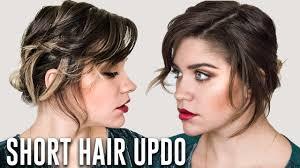 easy soft romantic updo for short hair tutorial anna russett