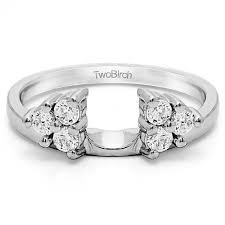 Wedding Ring Enhancers by Three Stone Engagement Rings And Ring Wrap Enhancer In Yellow