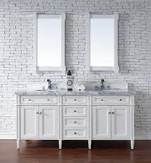 72 inch double sink bathroom vanity cottage white finish no top