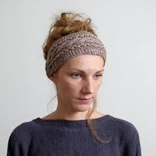 headband ear warmer cable knitted headband ear warmer cable from mareshop on etsy