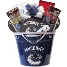 vancouver canucks nhl hockey gift baskets free canada wide shipping