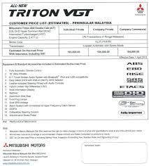 mitsubishi attrage specification mitsubishi triton price list auto cars