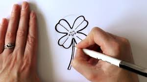 how to draw a cartoon four leaf clover youtube