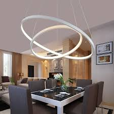dining room lights ceiling modern pendant lights for living dining room circle rings acrylic