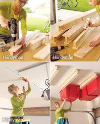 how to make garage ceiling sliding storage diy u0026 crafts handimania