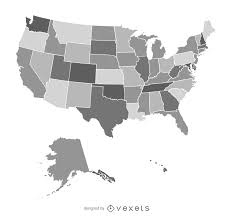 United States Map Image by United States Map In Gray Vector Download