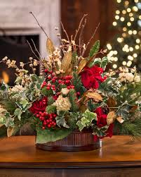 flower centerpieces vintage holiday silk flower centerpiece at officescapesdirect