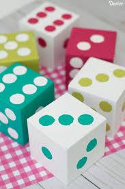 diy indoor games homemade dice tutorial for summer yard games darice