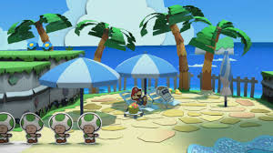 bloo bay beach mini star 1 paper mario color splash