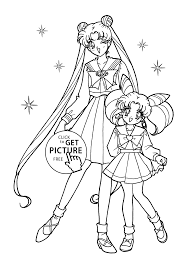 sailor moon coloring pages for kids printable free coloing