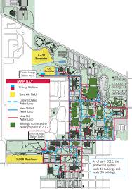 Usa Campus Map by Geothermal Energy System Ball State University