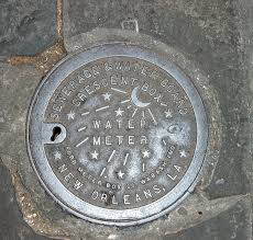 new orleans water meter cover new orleans water meter cover stock image image of cast