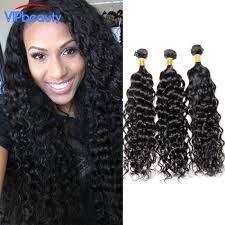 vip hair extensions 8a water wave 3 bundles human hair vip beauty and