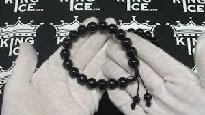 mens black beaded bracelet images Mens black obsidian mala power bead bracelet buddhist prayer jpg
